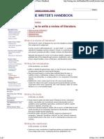 _Review of Literature_ UW-Madison Writing Center Writer's Handbook