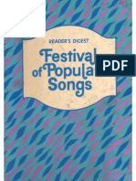 Book Reader s Digest Festival of Popular Songs