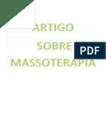 ARTIGO MASSOTERAPIA