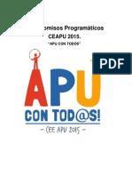 "Compromisos Programáticos CEEAPU 2015 ""APU CON TOD@S"""