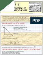 Trigonometrie Et Angles Particuliers