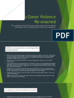video game violence re-enacted