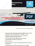 Development of Certification Maintenance Requirements