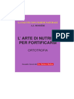 MOSSERI. Ortotrofia, l'Arte Di Nutrirsi Per Fortificarsi