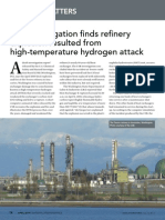 Tesoro Refinery Explosion Due to High-Temperature Hydrogen Attack