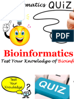 Bioinformatics Quiz