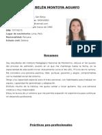 CV María Belén Montoya Aguayo