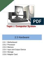 2.5 - Hardware
