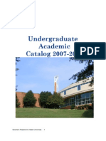 Undergraduate Academic Catalog 07-08