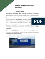 Informe de Visita a Empresa de Productos Hidrobiologicos