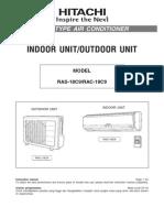 Philips Air Conditioner Manual RAS-18C9/RAC-18C9