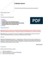 PDF Report With Multiple Queries