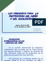 Ley Organica Para La Proteccion Del Niño y Del Adolescente