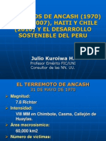 Los Sismos de Ancash Pisco Haiti Chile y El Desarrollo Soste