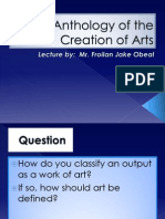 An Anthology of the Creation of Arts