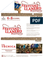 Brochure Festival Llanero 2014