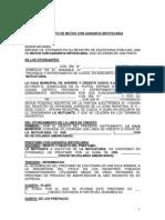 Contrato Mutuo Con Garantia Hipotecaria