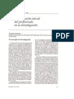 Imbernon (1987) La Investigacion en La Formacion Inicial