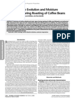 Carbon Dioxide Evolution and Moisture Evaporation During Roasting of Coffee Beans