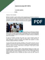 Relación de Notas 20-11-2014