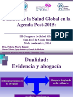 Desafíos de la Salud Global en la Agenda Post-2015