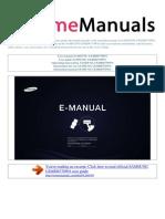 User Manual Samsung Ue40d6770ws e