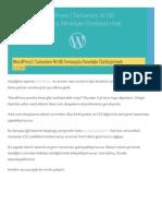 WordPress'i Tamamen %100 Temasıyla Paneliyle Özelleştirmek
