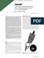 Measurement of Optic Nerve Sheath Diameter