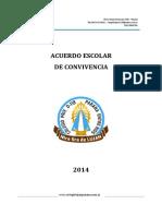 Acuerdo Escolar Convivencia 2014