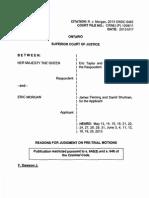 Justice Fletcher Dawson's ruling