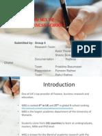 A Study- Marketing Mix of WBS