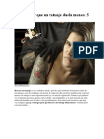 Cómo Hacer Que Un Tatuaje Duela Menos
