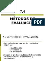 Cv-7b- Metodos de Evaluacion