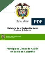 Lineas de Trabajo Salud Presentación Viceministra