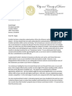 Denver Letter to Dave Siegel of Frontier Airlines