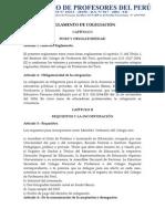 REGLAMENTO DE COLEGIACIÓN