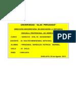 u.a.p-derecho (Derecho Civil Vii-sucesiones-09 Ciclo)-Dr.walter Mendizábal Anticona-Alumna- Yrrazabal Bardales Patricia Maribel