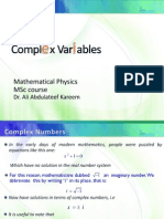 MSc Math Complex Variables