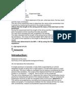 91913001 Lab Report 1 the Simple Pendulum