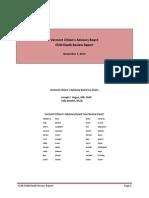 Vermont Citizen's Advisory Board Child Death Report 2014