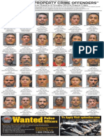 Most Wanted Property Crime Offenders, Nov 2014