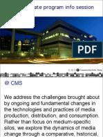 CMS graduate program information session slides