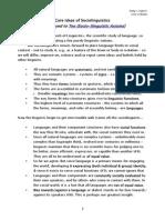 Core Ideas of Sociolinguistics