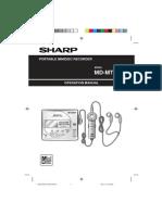 Sharp Mdmt20 Manual