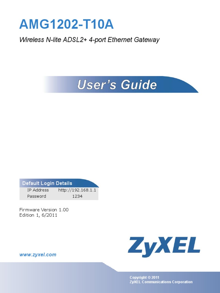Zyxel Amg1202 T10a Users Guide Wireless Lan Ip Address Pdf Of A 1970 Bb Cpe Wiring Diagram 70