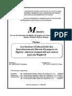 Cadre juridique de l'investissement en Algérie - Etude Comparative -