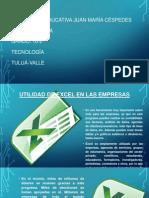 Utilidad de Excel en Las Empresas (Blogger)