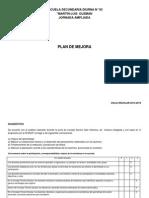 Desarrollo de Plan de Mejora 14 - 15
