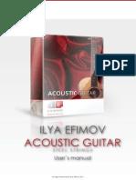 Efimov Acoustic Guitar Manual