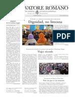 L´OSSERVATORE ROMANO - 21 Noviembre 2014